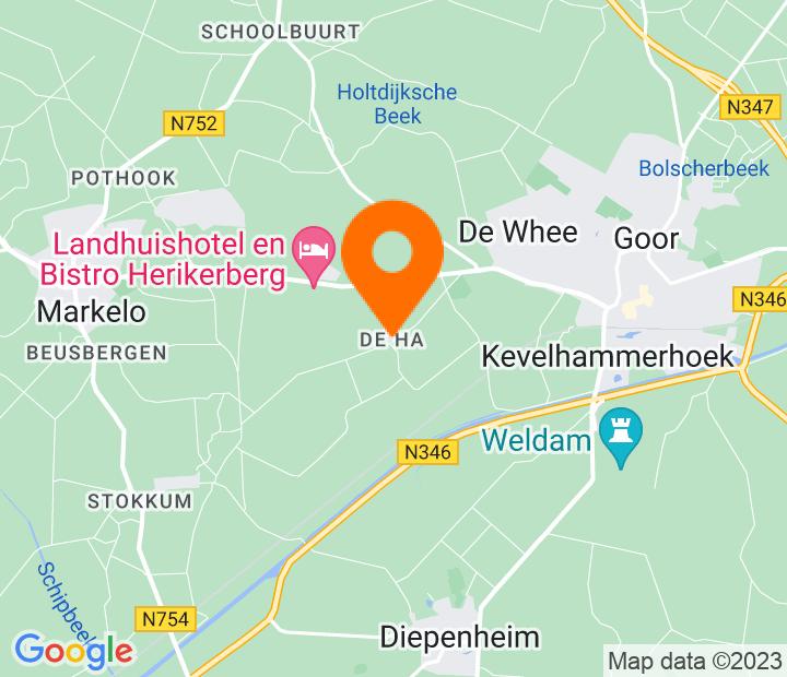 Google Map of 52.2292927,6.547432