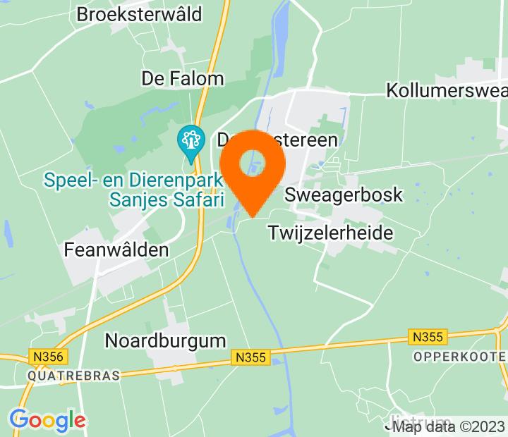Google Map of 53.2429676,6.0248351
